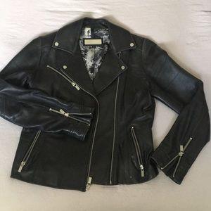 Black leather Moto jacket